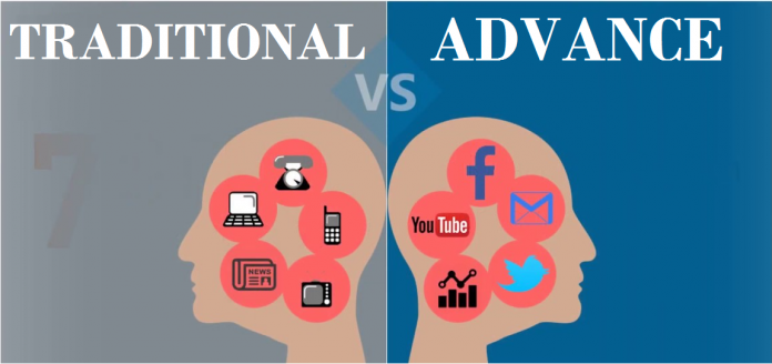 Traditional Vs Advance Marketing